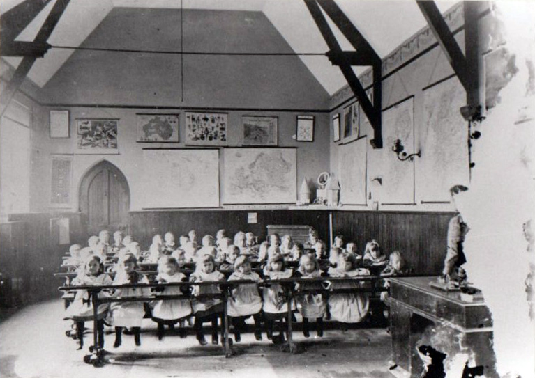 Langsett Schoolroom With Class